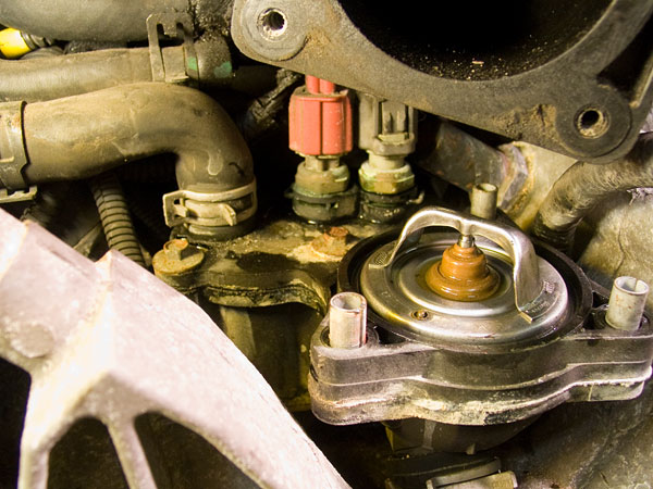 1994 ford probe engine diagram remove thermostat  disconnect sensors  remove thermostat  disconnect sensors
